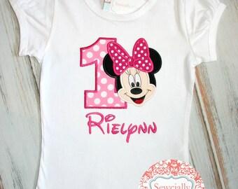 Minnie Full Face Birthday shirt