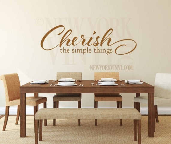 Kitchen Decoration Things: Kitchen Decor Cherish The Simple Things Wall By NewYorkVinyl