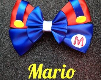 Mario Mario inspired bow