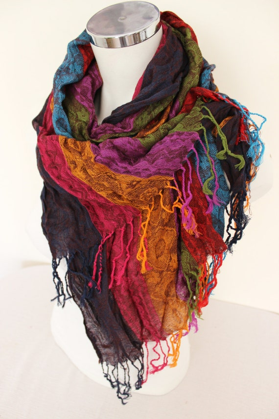 color scarves ethnic fabric scarves striped scarf