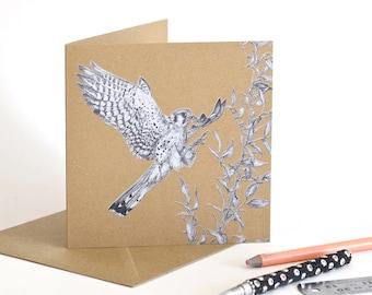 American Kestrel - Recycled Greetings Card