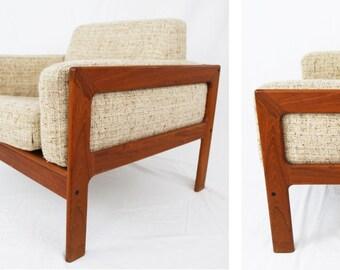 GORGEOUS Danish Teak Rosewood DENMARK Komfort Geometric Mid Century Modern Lounge Chair Denmark McM Norgaard Knoll Scarpa Bastiano