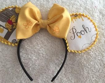 Pooh Minnie Mouse Ears Headband