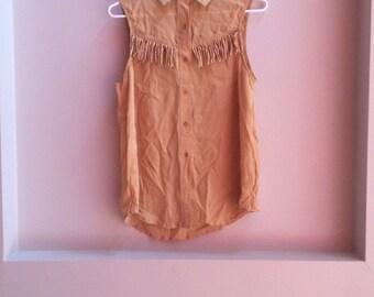 Cowgirl tassel shirt
