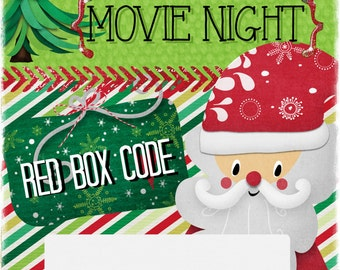 Christmas Red Box Movie Code Printable
