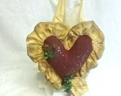 Country Heart Hanger, Stuffed Valentine Heart