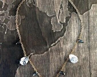 Bronze pyrite serpent necklace