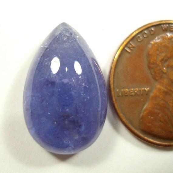 Teardrop Tanzanite: TANZANITE Teardrop Or Pear Cut Cabochon Gemstone 12.68 Carats