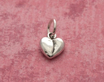 Sterling Silver Heart Charm – Sterling Silver Charm – Sterling Heart Charm – Sterling Charm – Silver Heart Jewelry – Sterling Silver Jewelry