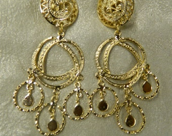 Vintage baroque clip on earrings