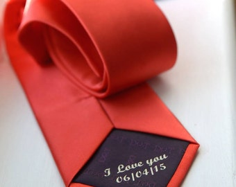 Personalised Secret Message Tie