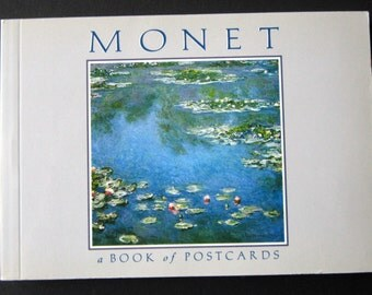 Monet, A Book of Postcards, vintage book