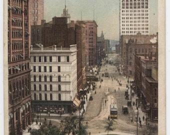 "Detroit, Michigan, Griswold Street, ""Phostint"" card, Detroit Publishing, vintage post card"