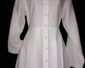 Laura Ashley vintage, new with tag, lagenlook casual Osfa loose fit linen dress, size 12/14 UK