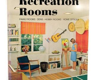 Vintage 60s Interior Decorating Book, Retro Home Decorating Ideas 60s Home Decor Sunset Books Ideas For Recreation Rooms DIY home decorating