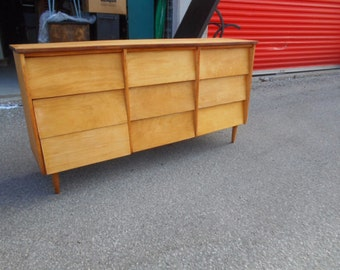Mid Century Blonde Walnut Cantilever Dresser by Ward Furniture - Local Pick Up Only