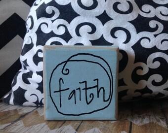 Faith Inspirational Wood Signs Faith Pool Decor Wood Sign Home Decor Gifts Under 10 Gift Idea Room Decor Gift Idea Wooden Blocks Decorations