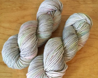 "Hand-Dyed MCN Worsted Yarn ""Opal"" Merino Wool Cashmere Nylon Worsted Weight Yarn"