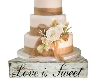 Wood Cake Cupcake Stand Box Country Rustic Wedding Solid Beach Wedding Cake Stand Candy Bar