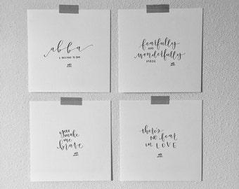 6x6 Handwritten Calligraphy