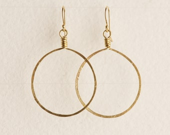 Handcrafted Classic Chloe Earring - gold-fill and brass