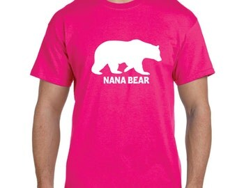 Personalized Grandparent Nana Gift Nana Bear Shirt Grandma Gift Grandmother Gifts Tshirts Gifts For Grandma Nana gift Mothers Day Gift