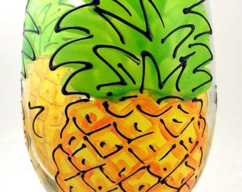 Pineapple Wine Glass Stemless Wine Glass