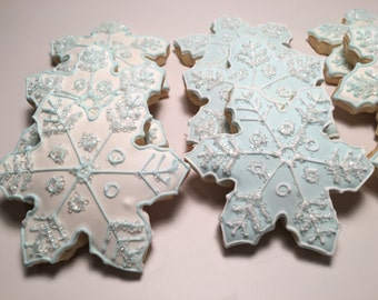 Winter Wonderland Snowflake Cookies