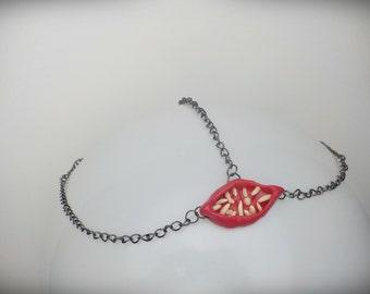 teeth head chain\horror head chain\creepy head chain\ mosnter gear