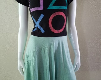 Playstation Controller  Green Babydoll dress