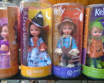 Kelly Halloween Dolls Set of 4 Barbie's Little Sister