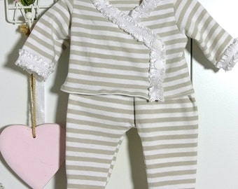 Two-piece suit with baggy pants for Baby Waldorf Doll