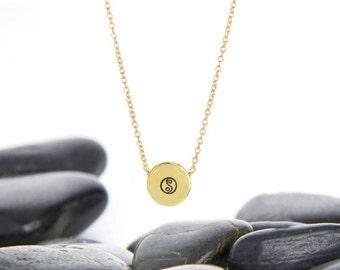 Yin Yang Jewelry, Yin Yang Necklace, Yin Yang, Ying Yang, Yin Yang Pendant, Yin Yang Charm, Yoga Jewelry, Yoga Necklace, Zen Necklace, n246B