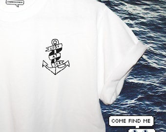 LOST AT SEA (embroidered t-shirt)