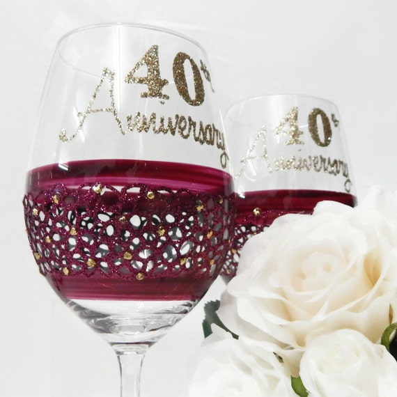 Gift For Parents Wedding Anniversary Gifts Ruby Anniversary Gifts 40th ...