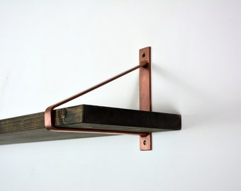Pair of Copper Steel Brackets - Newest Design Brackets - Shelf Brackets - Copper Brackets - Steel Brackets - Unique Brackets