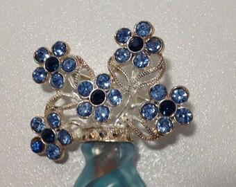 Avon Blue Bouquet Brooch