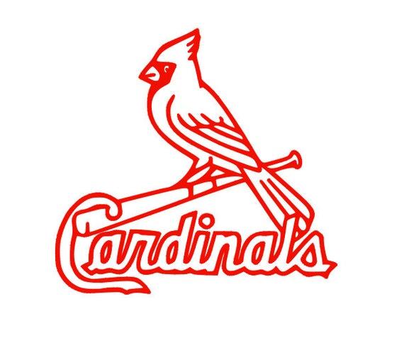 St. Louis Cardinals Logo Car Decal