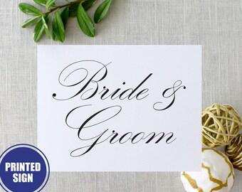 Printed Bride & Groom Sign, Wedding Reception Sign, Bride and Groom Signs, Reception Chair Signs, Wedding Signs, Reception Signs, Table Sign