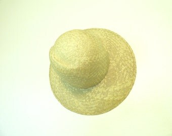 Vintage Woven Straw Wide Brimmed Sun Hat