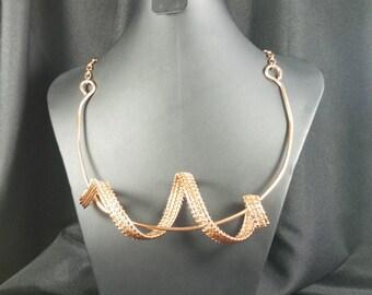 Copper Wire Wrap Necklace