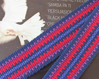 Acoustic Guitar Strap, Banjo Strap, Handwoven, One of a Kind Strap for Musical Instrument