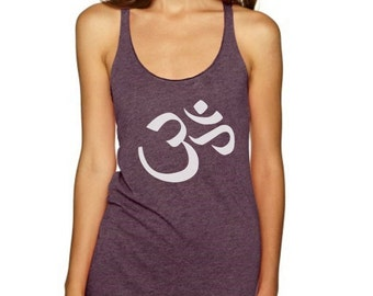 Om Yoga Shirts Tank Top Racer back T Shirt Singlet Bella Canvas Printed Appreal - Size S M L XL