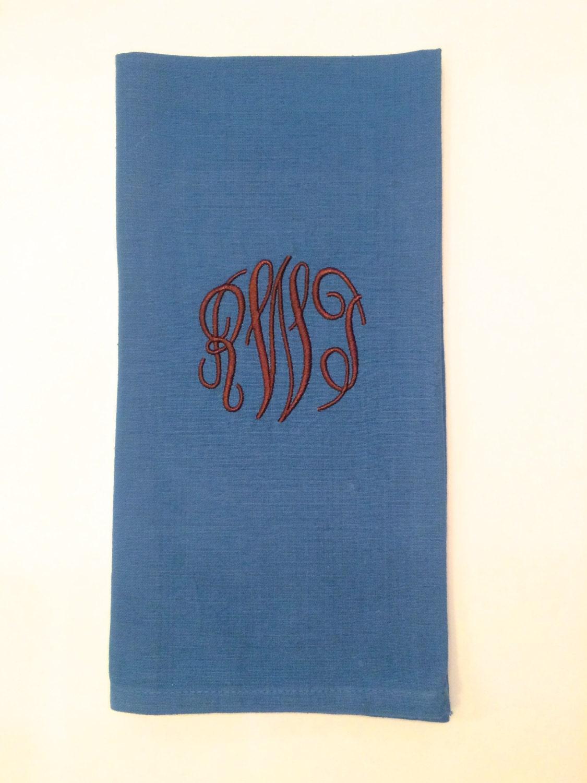 Monogram Applique Tea Towel Monogram Kitchen Towel