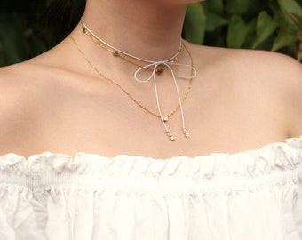 Tiny Double Star Bow Tie Choker - MAIVE by Seoul Little - M1517TS