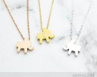 Elephant Necklace N16 • Gold Necklace, Dainty Necklace, Personalized Necklace, Thailand Necklace, Animal Necklace, Simple Necklace, Gift