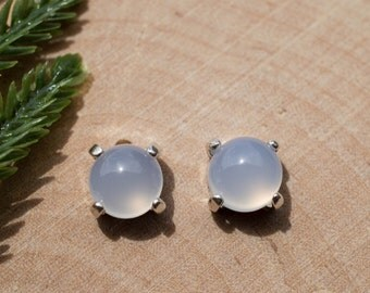 Chalcedony Sterling Silver Earrings