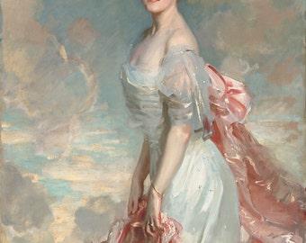 "John Singer Sargent : ""Miss Mathilde Townsend"" (1907) - Giclee Fine Art Print"