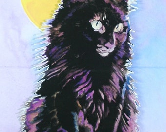 Pop Up Card of a Black Cat Suitable for Birthdays, Thank you Card, Halloween Card or Just to Say Hi Card