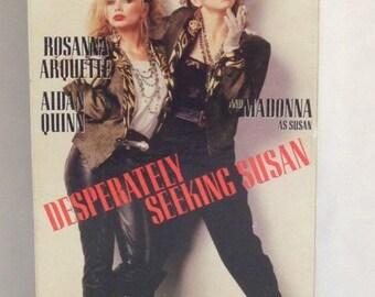 """Desperately Seeking Susan """"The Madonna Movie"""" VHS Tape Movie - Starring Madonna Rosanna Arquette Aidan Quinn 1985"""